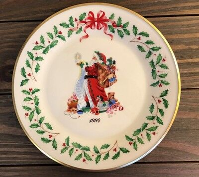 Lenox 1994 Annual Holiday Collector's Plate Santa Claus 4th in Series