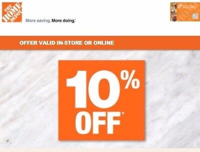 Home Depot 10 Off Online In Store Plus Financing Promo Coupon W Hd