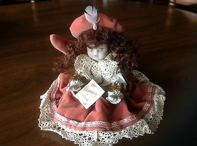 Vtg. Italian Bisque Porcelain Doll Jointed Hand Painted