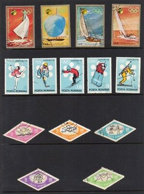 Olympic Games Worldwide Collection of Stamps Featuring Various Olympic Sports