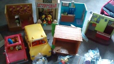 Simpsons World of Springfield playsets and action figures - Free postage