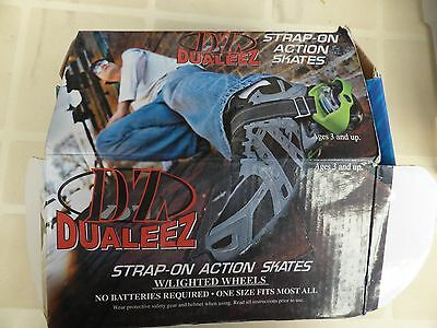 Dualeez Adjustable Strap-On Action Heel Roller Skates