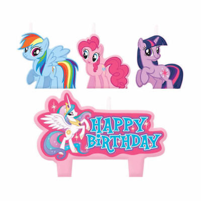 My Little Pony Candles Set Happy Birthday Mini Moulded - Pack of 4