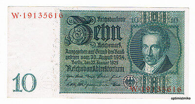 1 x 10 Mark UNC Ros.173 a Pick 180 Germany