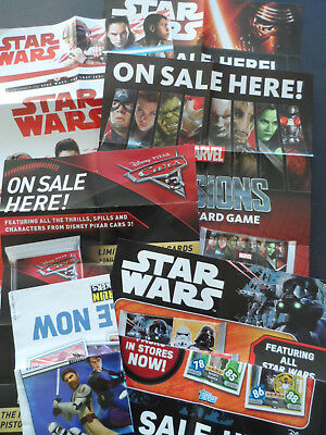 Topps Shop Posters (Star Wars The Last Jedi,marvel,cars 3)