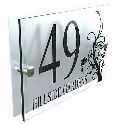 Decorative House Signs Plaques Door Numbers 1 - 999 Personalised Name DEC-2B-S