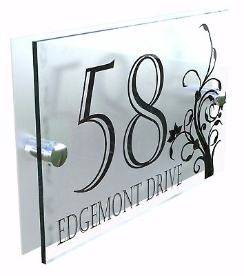 Decorative House Signs Plaques Door Numbers 1 - 999 Personalised Name DEC-24B-S