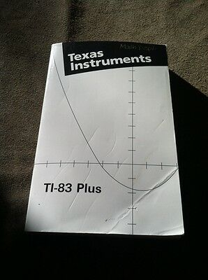 TI-83 Plus Texas Instruments Graphing Calculator Guidebook