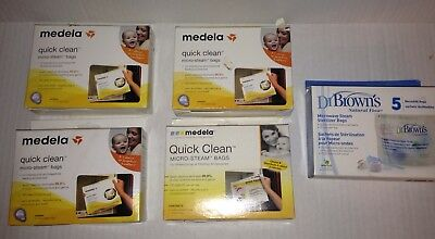 21 Medela Dr Brown's Quick Clean Micro Steam Bags Jj