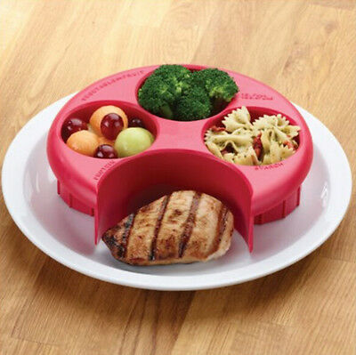 Food Control Meal Measure Plate Diet Portion Weight Loss Healthy Eating Slim
