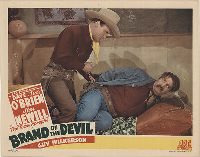 Brand of the Devil 1944 11x14 Orig Lobby Card FFF-34888 Fine Dave O'Brien Wes...