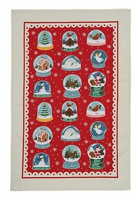 "Ulster Weavers, ""Snow Globes"" Pure cotton printed tea towel"