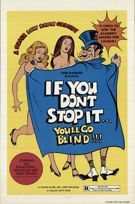 If You Don't Stop It... You'll Go Blind!!! 1975 27x41 Orig Movie Poster FFF-6...