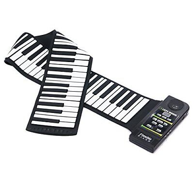 Portable 88 keys Electronic Roll Up Piano Flexible Foldable Soft  Keyboard