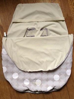 JJ Cole Bundle Me Baby Car Seat Cover Graphite Infant Gray Sherpa Lined Canopy
