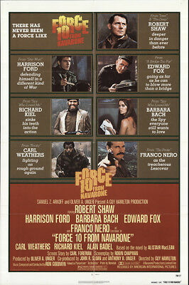 Force 10 from Navarone 1978 27x41 Orig Movie Poster FFF-60862 Very Fine
