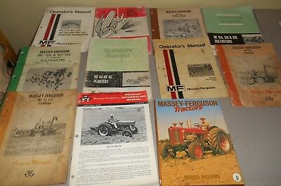 Lot of 11 Massey Ferguson Implement Manuals - Hardback Book- Product Information