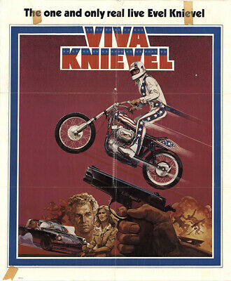 Viva Knievel! 1977 26.875x32.25 Orig Movie Poster FFF-42918 Red Buttons