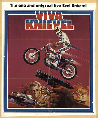 Viva Knievel! 1977 26.875x32.25 Orig Movie Poster FFF-42921 Red Buttons