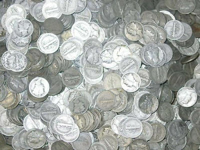 Bullion Lot One Troy Pound  90% Silver US Coins Mixed Halves Qters Dimes