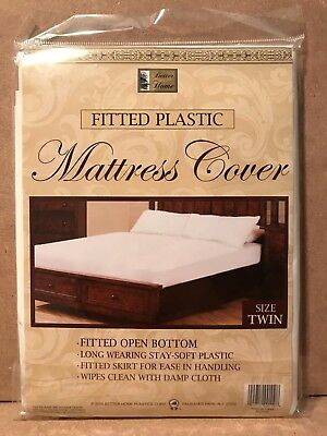 Better Home Fitted Plastic Mattress Cover White Waterproof Bed Bug Dust Free