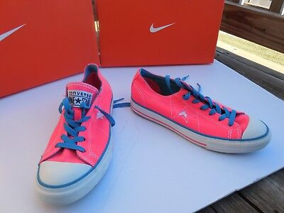 Converse One Star Hot Pink Low Canvas Shoes Sneakers Ladies Sz 8.5 Style 531879