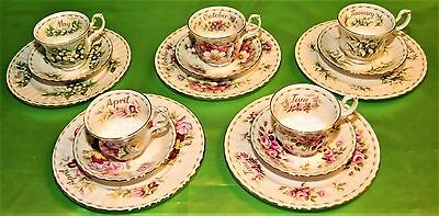 Servizio Tazza The' Royal Albert Flower Of The Month Alla Scelta England (393)