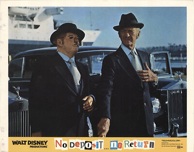 No Deposit, No Return 1976 11x14 Orig Lobby Card FFF-41055 David Niven Disney