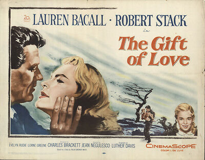 The Gift of Love 1958 22x28 Orig Movie Poster FFF-56586 Lauren Bacall