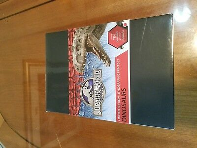Jurassic World Jurassic Park Dinosaurs Lithograph Limited Ed Print Set
