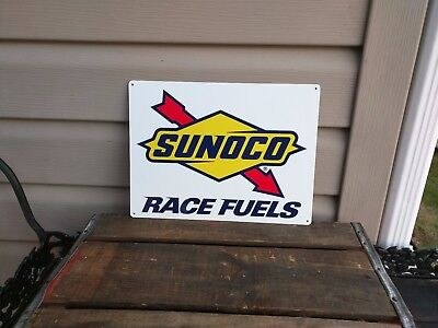 Sunoco race fuels oil gasoline repro advertising sign garage Shop 9x12 50076