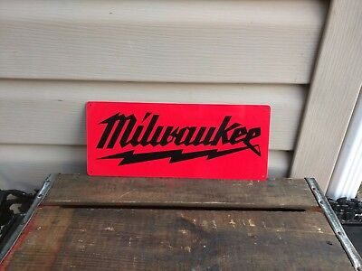 Milwaukee heavy duty advertising metal sign vintage advertisement 5x12 50082
