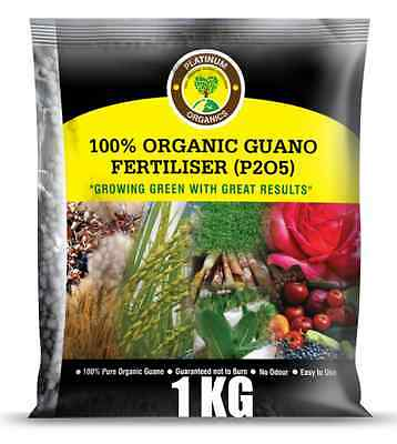 1kg PLATINUM Guano Organic Fertiliser HIGH-P + 17 Trace Elements & Regular Post