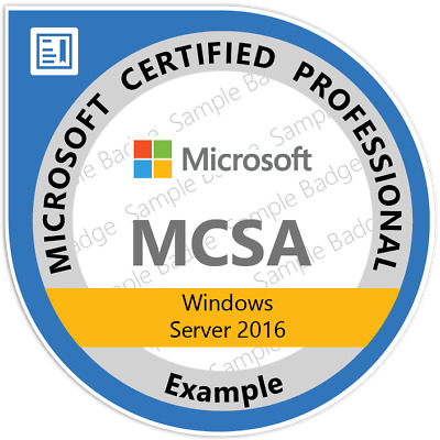 MCSA: Server 2016, Exams: 70-740, 70-741 & 70-742 Practice Q&A, PDF Copy Only