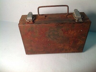 Vintage first aid kit miner appliance co Pittsburg Pa coal mining metal box