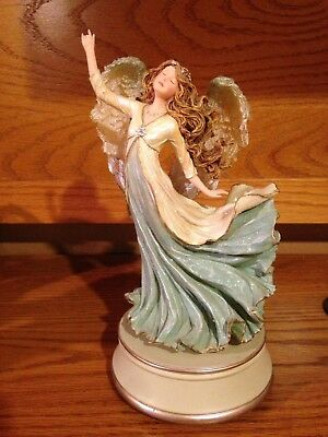 Rare Musical Boyds Charming Angels Collection Nicolena Guardian of Imagination