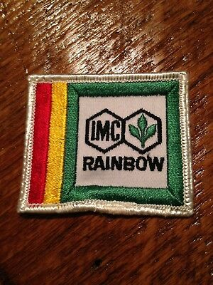 Vintage IMC Rainbow patch sew on 70s Agriculture Farm Farming Seed Fertilizer