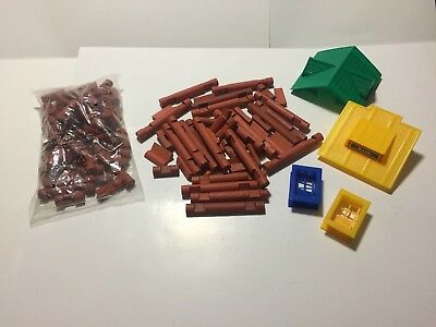 RARE!!!!   VINTAGE Lincoln Logs Bank Set New