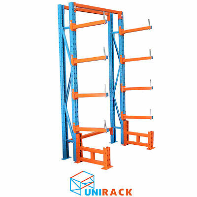 Cantilever Racking Double 2500mm High 6 Level Powder Coated Warehouse Rack - SA