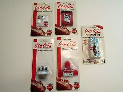 Coca-Cola Magnets (Set of 6) one musical