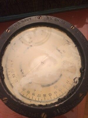U.s Navy B.u. Ships 4-Inch Boat Compass Mark 1 1940, The Lionel Corporation N.y.