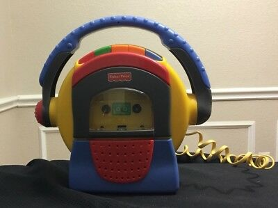 Fisher Price Tuff Stuff Cassette Tape Player Recorder Mic Karaoke
