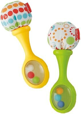 Fisher Price Shake Ann Rattle Maracas For Baby Colourful Beads By Fisher Price