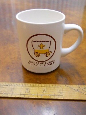 Sam Houston Area Council Camp Leaders Mug 1983  (Unused, Excellent Condition)