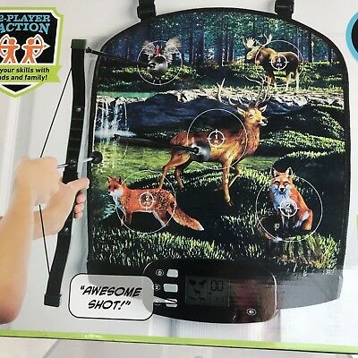 Sharper Image ELECTRONIC OVER THE DOOR Bow Hunter ARROW DART GAME 2 Player
