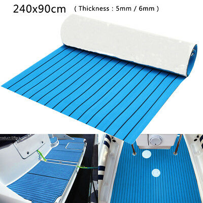 240x90cm Foam Boat Flooring Mat Decking Carpet Sheet Pad Marine Self-Adhesive