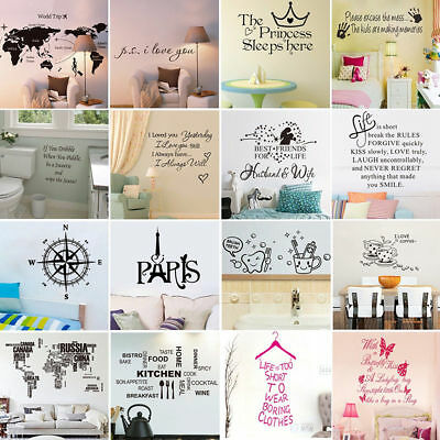 DIY Removable Home Decor Art Wall Stickers Decal Bedroom Living Room 3D Mural