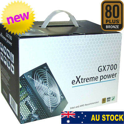 Cooler Power Supply 700w ATX SATA Nvidia 80+ Plus Gaming Computer PC Case PSU
