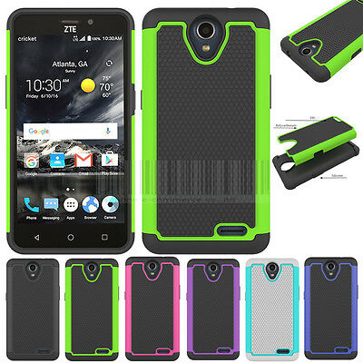Rugged Hybrid Impact Armor Case Shockproof Rubber Cover For ZTE Prestige 2 N9136