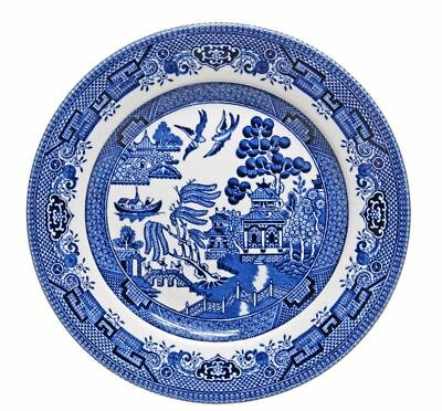 Churchill - Blue Willow Entree Plate 20cm (Made in England)